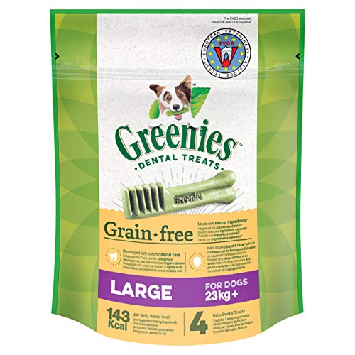 Greenies Dental Treats Grain Free Large – 8 Getreidefreie Zahnpflegesnacks für Hunde ab 23 kg – Hundeleckerli zur täglichen Zahnreinigung – 2er Pack – 2 x 170 g