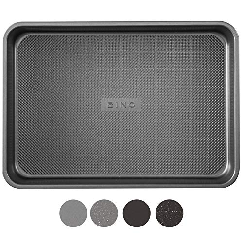 BINO Bakeware Nonstick Baking Pan, 9 x 13 Inch - Gunmetal | Premium Quality Textured Cake Pan with Even-Flow Technology | Dishwasher Safe | Non-Toxic