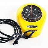 wellenshop Riviera Handkompass Peilkompass Kunststoff Gelb 10° Skalierung Schwimmfähig Entspiegelt