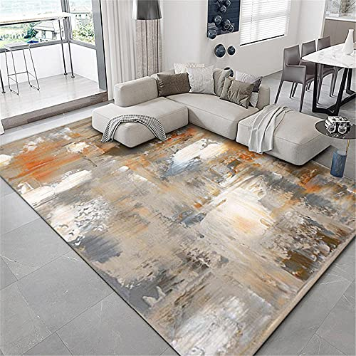alfombras lavables salon Gris Alfombra de sala de estar gris borroso patrón antiguo vintage con alfombra duradera alfombras exterior jardin 200X300CM cuadros decorativos modernos para sala 6ft 6.7''X9