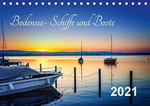 Bodensee-Schiffe und Boote (Tischkalender 2021 DIN A5 quer)