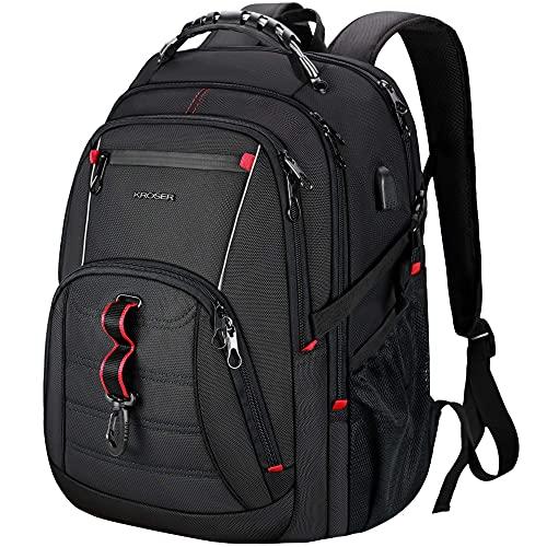 HMMHHE Viaje portátil mochila viajes portátil mochila 17.3 pulgada SG Mochila informática elegante mochila universitaria con USB Puerto de carga & RFID Paquetes de día repelente al agua para la escuel