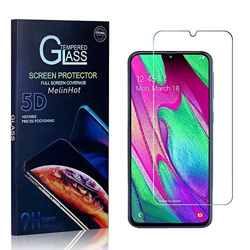 MelinHot Displayschutzfolie für Galaxy A40, 9H Härte Schutzfilm aus Gehärtetem Glas, Anti Bläschen Displayschutz Schutzfolie für Samsung Galaxy A40, 4 Stück