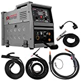 Amico MIG-140GS, 5-in-1 Combo 140-Amp MIG/Lift-TIG/Stick Arc DC Inverter Welder Welding, Compatible Spool Gun Welding Aluminum.