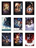 POSTER STOP ONLINE Star Wars Episode I, II, III, IV, V, VI, VII, VIII & Rogue One - Movie Poster Set (9 Individual Full Size Movie Posters - Version 2) (Size 27' x 40' Each)