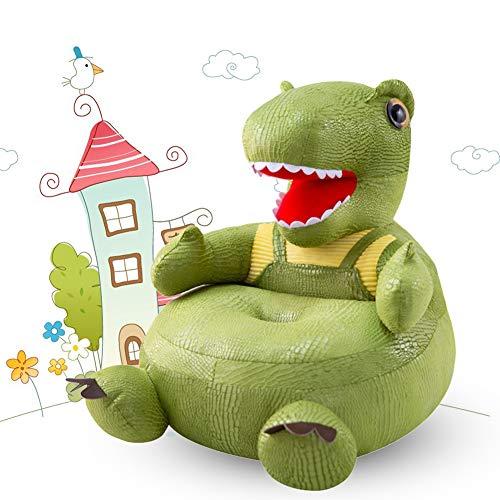 AJAMQ Sessel Schlafsofa Tier Für Kinder Kissen Sofa, Kinder Plüsch Sofa Sitz Kinderstuhl Komfort Sessel Dinosaurier Sofa Sitz Kindersessel, Baby Stützsitz Lernen Sitzen Weichen Stuhl,Grün