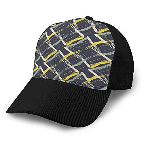 hyg03j4 Unisex Sombreros de Moda Gorra de béisbol Gorra de Mimbre Tejido denso de Patrones sin Fisuras Sombrero de algodón