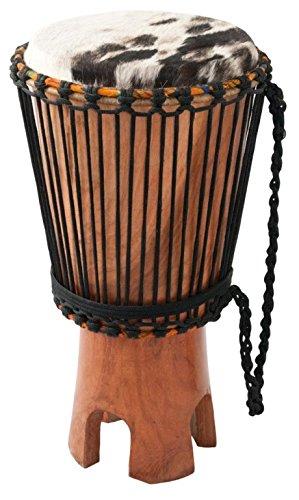 Ashiko Basstrommel Ø 29-31cm Höhe 58-60 cm Afrika Kuhfell Cut Out Standtrommel