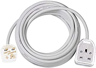 Brennenstuhl Extension Cable for Home and Office (2 m Cable for Indoor Use, with Rubberised Socket 13 A BS) White