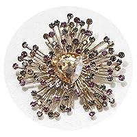 ヨーロッパとアメリカの誇張されたダイヤモンド3色人工水晶ブローチ人格野生のブローチ女性のアクセサリー,ゴールドボトムグリーン