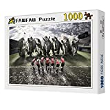 FAWFAW Puzzle Les Enfants 1000 Pièces, Puzzle 3D, Équipe De Rugby Rhinocéros Jeux De Puzzle