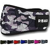 Roar® Cinturón Lumbar Gimnasio, Cinturon Gimnasio Hombre y Mujer, Cinturon Halterofilia, Powerlifting, Crossfit, Levantamiento Peso, Musculacion, Cinturon Gym Hombre, Cinturon Pesas (Camuflaje 2, L)