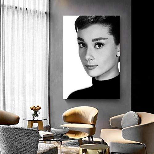 KWzEQ Moderne Wandkunst-Figurenmalerei auf Leinwand durch Filmstarplakate und Druckschauspielerinnen,Rahmenlose Malerei,30x45cm