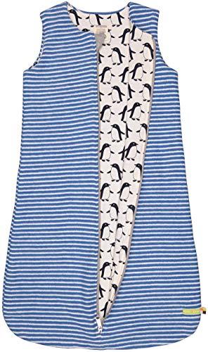 loud + proud Baby-Unisex Wendeschlafsack Fleece Aus Bio Baumwolle, GOTS Zertifiziert Schlafsack, Blau (Cobalt Cob), 56 (Herstellergröße: 50/56)