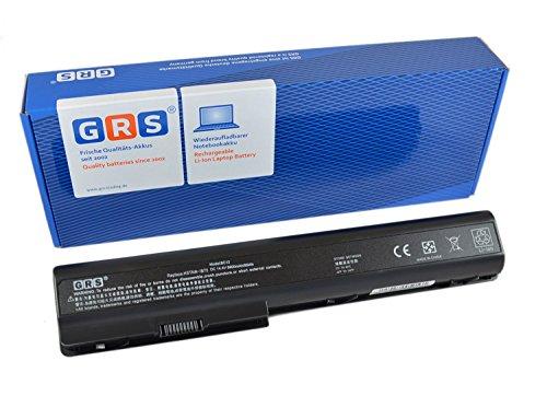 GRS Akku mit 6600mAh für HP Pavilion dv7 HDX X18 dv8t dv7t dv8 ersetzt: 480385-001 GA08 516355-001 KS525AA 464059-141 HSTNN-OB75 516916-001 HSTNN-DB75 HSTNN-IB75 6600mAh, 14,4V 95Wh