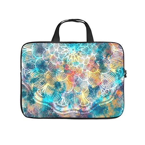 Laptop Sleeve Magic Colorful Durable Comfortable -Handbag Compatible with 13-15.6 inch White 10inch