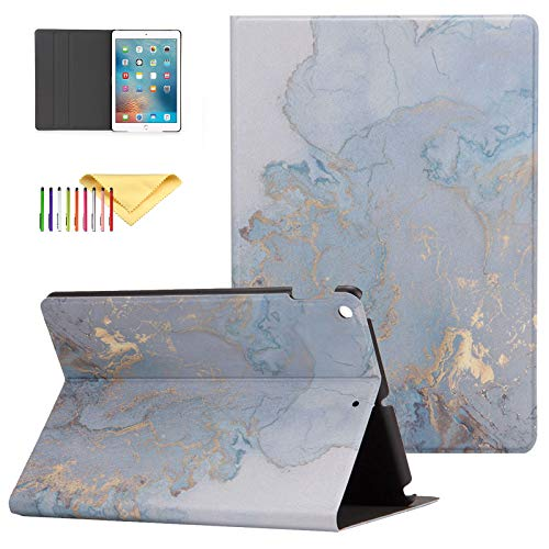 iPad Air 3 10.5 inch Case (2019 Model 3rd Generation), Uliking [Marble Map Series] PU Leather Shockproof Stand Smart Cover with Auto Wake/Sleep for iPad Pro 10.5' 2017/ Air 3 10.5 2019 Tablet, Gold
