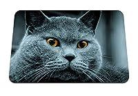 22cmx18cm マウスパッド (猫色目驚き) パターンカスタムの マウスパッド