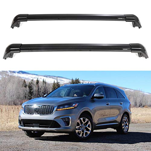 ECCPP Kayak Roof Rack Cross Bars Luggage Cargo Carrier Rails Fit for 2015 2016 2017 2018 2019 Kia Sorento Sport Utility,Aluminum