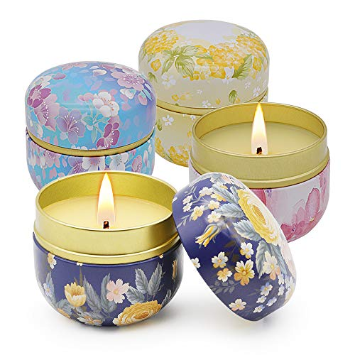 Witcreate Scented Candles Gift Set, 4 Pack 4.5OZ Natural Soy Wax Aromatherapy Candles, Lavender,...