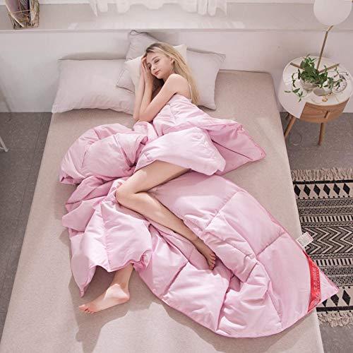 CHOU DAN Classic hollow double duvet, duvet double bed-150X200CM 3000g_Pink