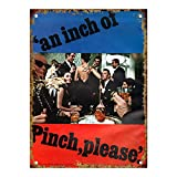 DGBELL Pinch by Haig Scotch Whiskey Retro Pared Decoración Estaño Firmar Único Póster Vendimia Placa de Metal para Hombre Cueva Café Oficina Película Teatro