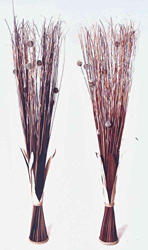 Kobolo Dekobündel im 2er Set aus Kokosfaser naturfarben - braun - schwarz -150 cm
