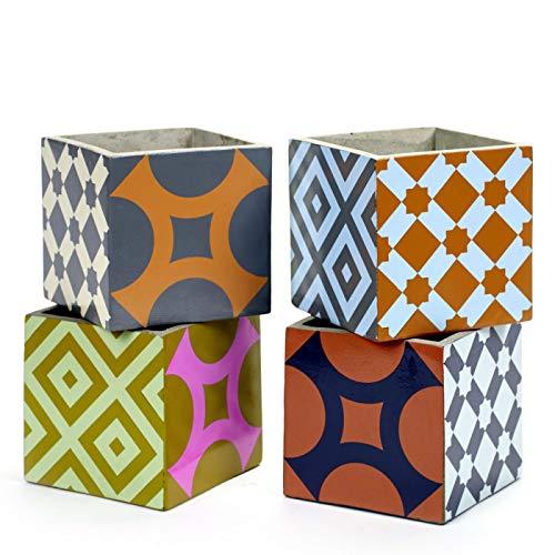 Serax 4 Pots Béton Cubique Marie Print 15 x 15 x 15 cm