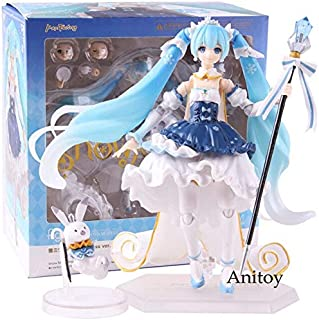 Figma Ex-054 Snow Miku 2019 10Th Anniversary Series Snow Ver. Action Figure PVC Collectible Model Toy U Must Have 7 Year Old Girl Gifts The Favourite Toys Toddler Superhero Unboxing Box