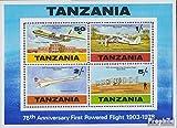 Prophila Collection Tanzania Bloque 16 (Completa.edición.) 1978 vuelos con Motor el Gebrüel Wright (Sellos para los coleccionistas) Aviación