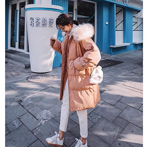 KOUPNLTM Manteau en Duvet À Capuche Femmes Hiver Décontracté Longue Veste en Daim Vogue vers Le Bas Manteaux S Light Brown