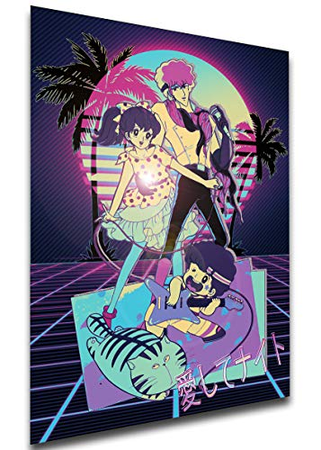 Instabuy Poster - Vaporwave 80s Style - Kiss Me Licia - Characters A4 30x21