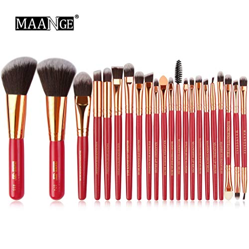 YCQUE 22 Stücke Beste Muttertagsgeschenk Holz Make-Up Pinsel Set Werkzeuge Professionelle Make-Up Toiletry Kit Lidschatten Foundation Puder Eyeliner Mascara Lip Concealer Augenbraue Pinsel