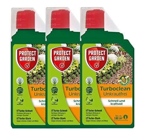 PROTECT GARDEN Turboclean Unkrautfrei Konzentrat Unkrautvernichter 3 Liter