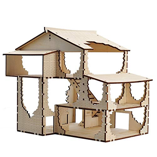 Tavern Terrain Wood Laser Cut 3D Fantasy Inn Miniature 28mm Scale for Dungeons and Dragons, D&D, Warhammer 40k and Other Tabletop RPG