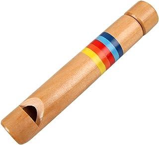 Zandreal 1PCS Kids Wooden Flute Whistle Musical Instrument Educational Toys for Children