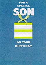 Front Message: For a special son on your birthday Inside Verse: As you've grown through the years, all the love and pride has grown right along with you… That's why you deserve a terrific birthday and a year of your favorite things! HAPPY BIRTHDAY Ca...