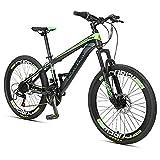 Bicicletas de montaña, 24 niños velocidad Doble Disco de freno de bicicleta de montaña, el marco de acero de carbono de alta, Niños Niñas hardtail bicicleta de montaña, rojas, 24 pulgadas lalay