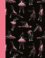 作曲ノート:ダンスバレエ黒とピンクのカレッジ罫線付きページの本(7.44 x 9.69)