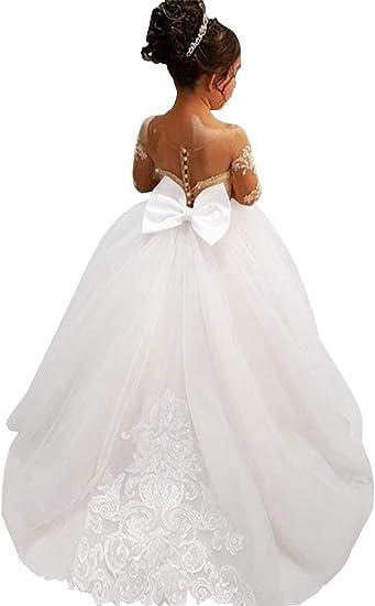 Princess Dress Flower Girls Dresses Graduation Party Birthday Communion Wedding