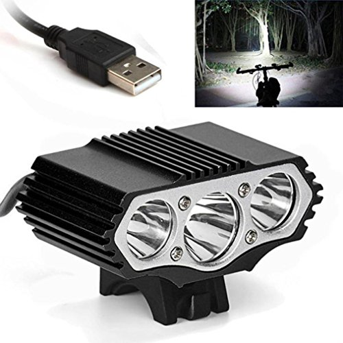 Longra Flash12000 Lm 3 x XML T6 LED 3 modos lámpara de la bicicleta luz de la bici luz de la linterna antorcha (negro)