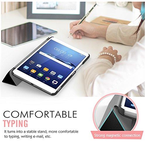 MoKo Huawei MediaPad M3 8.4 Hülle - Ultra Slim Lightweight Schutzhülle Smart Cover Standfunktion für Huawei MediaPad M3 8.4 2016 Tablet-PC perfekt geeignet, Schwarz - 3