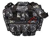 NEXPAK USA TF115UCM Black Gray Grey Digital Camo Waterproof Range Duffel Duffle Bag Tactical Militar Molle Outdoor Travel + Key Ring Carabiner