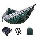JKLL Hamaca para Acampar Individual y Doble con Correas para hamacas, Hamaca de Nylon con paracaídas portátil para Viajes de mochilero (Color : D)
