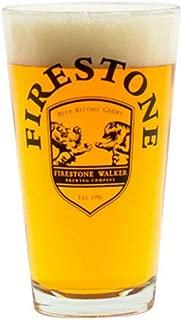 Firestone Beer Pint Glass 16 Ounce Bear vs Lion Shield