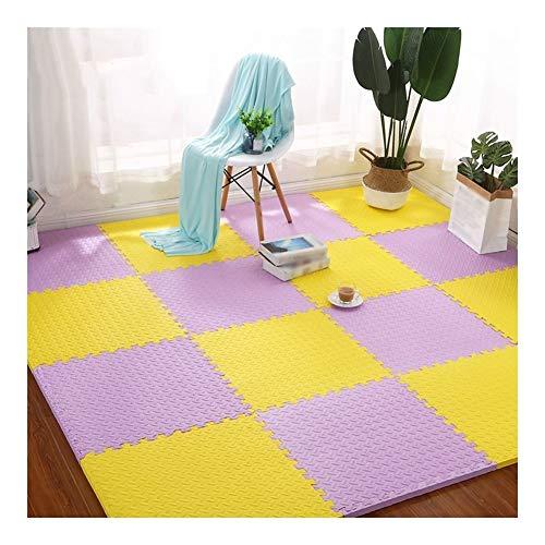 AMDHZ Interlocking Foam Floor Mats Soft Non-slip Children crawling mat Used for Home living room Gym Multiple colors (Color : C, Size : 30x30x1.2cm-32 pcs)