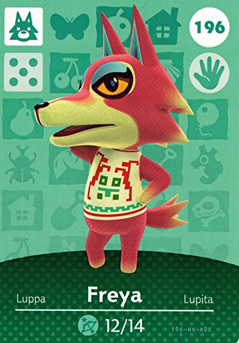 Nintendo Animal Crossing Happy Home Designer Amiibo Card Freya 196/200 USA Version