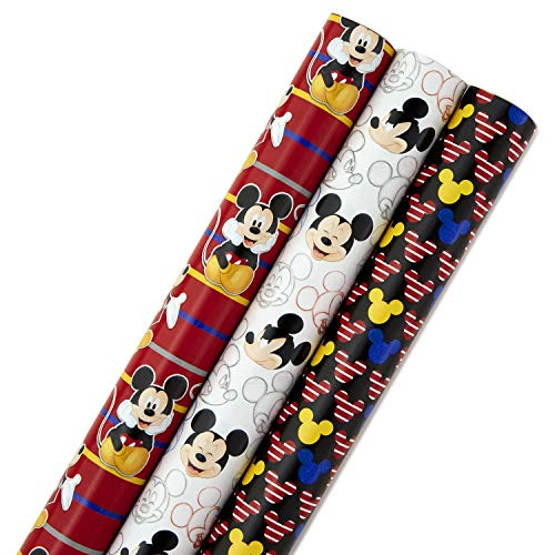 Hallmark gift-wrap-paper, Mickey, 3 Pack