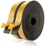 Foam Seal Tape 1' W × 1/8' T, Thick High Density Foam Tape for Doors and Windows Gasket Insulation Soundproofing, Closed Cell Foam Window Seal(16.5ft × 2 Rolls)