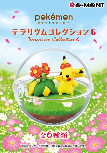 THIRD PARTY - Set De 6 Figurine Pokemon Pokeball Terrarium Serie 6 - 4521121204772